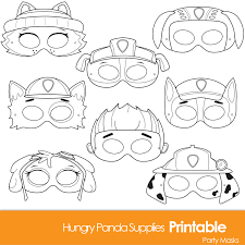 paws printable coloring masks dog masks printable masks aiden