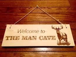 laser engraved outdoorsman man cave wooden sign home decor