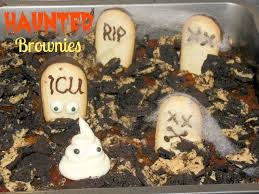 haunted but cute graveyard brownies