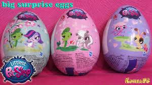 littlest pet shop easter eggs littlest pet shop big eggs lps chocolate eggs kids