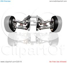 car suspension clipart illustration of red and silver suspension car parts and