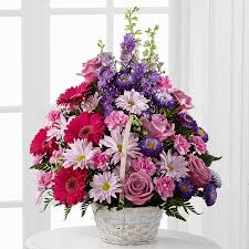 flowers with free delivery same day funeral flowers free delivery peace with pastel basket