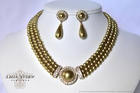 gold crystal bridal necklace images Gold pearl bridal jewelry set crystal ksvhs jewellery jpg