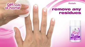 eng essence gel nails at home tutorial french look youtube