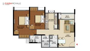 layout floor plan lodha casa royale lodha luxury residences