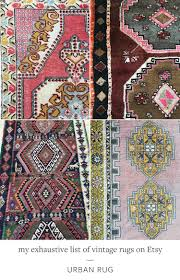 jojotastic my exhaustive list of vintage rugs on etsy