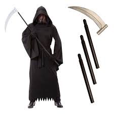 halloween grim reaper prop u0027s grim reaper death robe halloween fancy dress costume