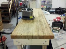 fuzzy logic brewery butcher block ready for sanding jpg