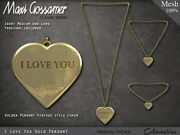 gold love pendant necklace images Second life marketplace necklace 39 i love you 39 heart gold pendant jpg
