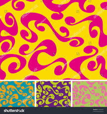 60 S Design Colourful 60s70s Background Different Colour Variations Stock