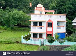 small bungalow small bungalow at raigadh district maharashtra india stock photo