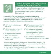 checklist of documents you need to submit to the social security
