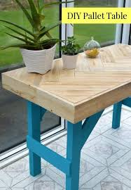 Diy Pallet Bench Instructions Diy Wooden Table Made With Pallet Wood Lovely Greens Garden