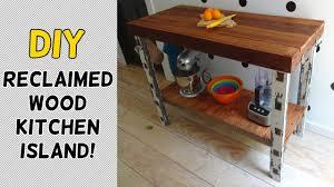 reclaimed wood kitchen islands diy reclaimed wood kitchen island