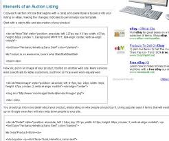 free ebay auction templates how to find a free ebay seller template