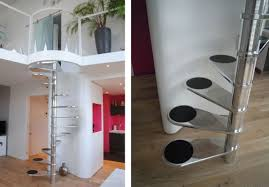 stair charming home decoration design with stainless steel spiral