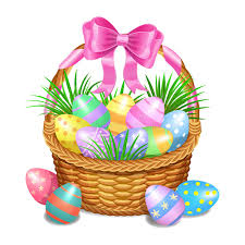 painted easter baskets easter basket with color painted easter eggs on white stock vector