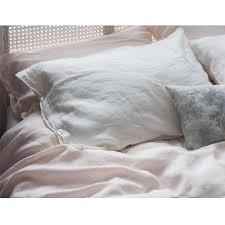 lisbon bed linen in powder pink luxury bed linen