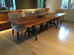 this reclaimed oak table top finished with tung oil was made here