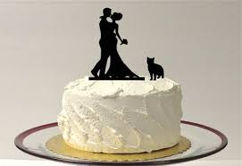 cat cake topper made in usa cat groom silhouette cake topper with