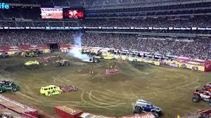 monster truck show lubbock tx maximum destruction double backflip attempt metlife stadium 2013