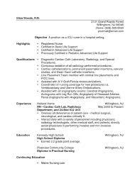 Example Rn Resume by New Grad Rn Resume Examples Example Of A Nursing Resume Icu Nurse