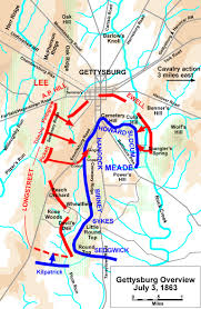 Pa Road Map Gettysburg Battle Map 1863 Road Trip Gettysburg P A