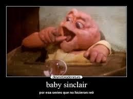 Baby Sinclair Meme - usuario hell back desmotivaciones