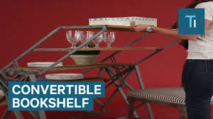 table converts to shelf this bookshelf converts into a table for ultimate style and storage