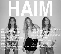 haim poster haim prep new album announce new dates including lollapalooza and