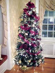 purple christmas trees decorated u2013 happy holidays