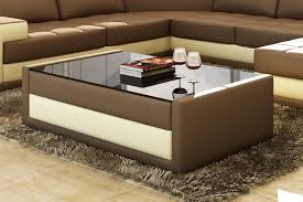 coffee tables splendid stunning faux leather coffee table with