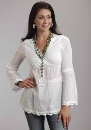 womens cotton blouses stetson s white cotton voile lace trim peasant blouse