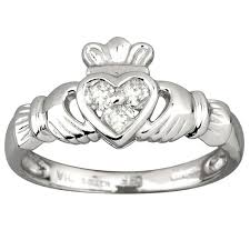 galway ring fallers rings 14k white gold diamond heart claddagh ring fallers