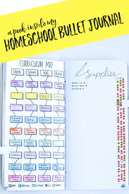 Blank Curriculum Map by My Homeschool Bullet Journal Setup