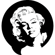 wall decal wall decals city thousands pictures of wall marilyn monroe portrait circle wall sticker world of wall stickers