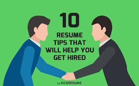 resume and interview tips 10 resume tips that will help you get hired