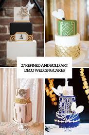 Art Deco Wedding 27 Refined And Bold Art Deco Wedding Cakes Weddingomania