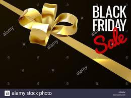 black and gold ribbon black friday sale gold ribbon gift bow design stock vector