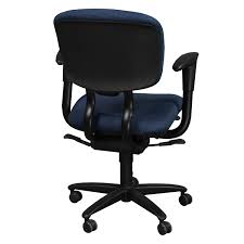 haworth improv desk used task chair blue national office