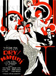 vintage martini illustration dry martini vintage flapper llustration art deco movie