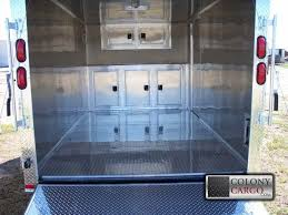 v nose enclosed trailer cabinets colony cargo trailers and more serving the southeast us