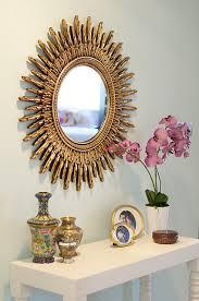 foyer mirrors golden flare mirror