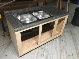 how to make a sink base cabinet building our kitchen sink cabinet wagonworks