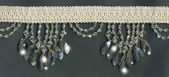 Beaded Home Decor Crystal Clear Venice Beaded Home Decor Trim On Braid