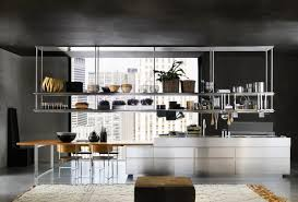 organized kitchen space stainless steel racks interior design ideas
