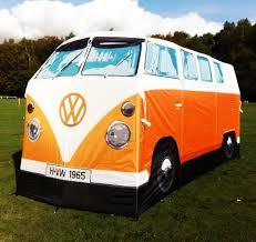 volkswagen camper vw camper bus tent orange u2013 vintage vdub