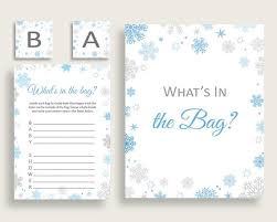 what s in the bag baby shower what s in the bag baby shower what s in the bag snowflake baby