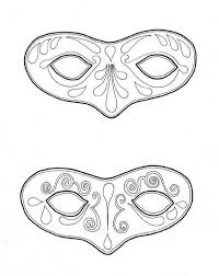 mardi gras couple of mask to wear on mardi gras coloring page
