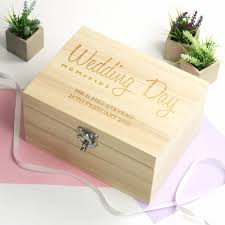 wedding photo box personalised wedding day memories keepsake box by mirrorin
